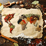 the world made out of ingredients